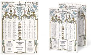 2019 Année de l'amour ! Ich&Kar dessine des victoires qui annoncent le couronnement des doux sentiments… pour Sebastien Gaudard, toujours inspiré des décors du décorateur Bérain, un almanach romantique et sa collection de gâteaux de saison, qui raviront les papilles des amoureux !
