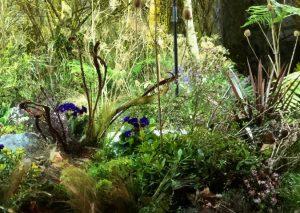 Marianne Guedin, scénographie végétale, février 2020, défilé Ralph & Russo, création d'une forêt de 1600 m2, Pavillon Cambon, Paris.