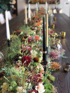 Marianne Guedin, création végétale en l'honneur du nouveau millésime rosé de la maison Moet & Chandon, septembre 2021, Paris.