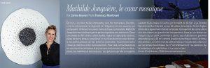 Parution d'un potrait de Mathilde Jonquière dans «Repérages», Marie Claire, Février 2016.