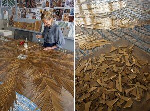 Mathilde Jonquière, artiste mosaïste, projet en cours. © photo Pierre-Olivier Deschamps