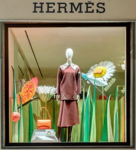 Été 2017 – Hermès – La Nature au Galop – Réseau des boutiques suisses.
