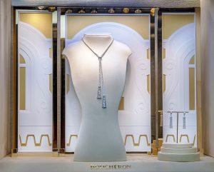 Printemps 2016 -Boucheron – Mains de lumière – Décors de vitrines du réseau international.