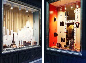 2016 – Les fameux pavés de la rue de l'Université sont associés à un Scrabble géant, Paris devient le décor miniature d'un jeu de petites voitures et les figures en chocolat prennent l'air dans une roue digne de celle de la place de la Concorde.