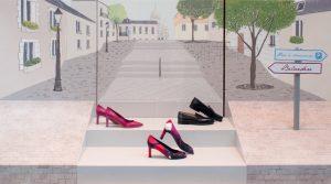 Printemps 2015 – Hermès – la Flânerie – Décor des vitrines du réseau des boutiques suisses.