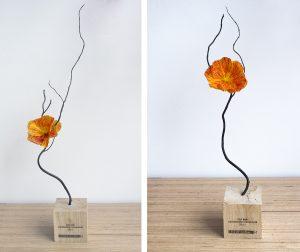 2017 – MAIRIE DE PARIS / ANTOINETTE GUHL – Création d'un trophée – Sculpture florale pour le prix 'Cap sur l'économie circulaire'. artiste upcycling.